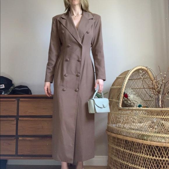 🌵HostPick🌵Neutral Tone Full Length Blazer Dress